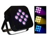 Free Shipping LED Tri-Colors 3W*9 (3-in-1) Mini Flat Par Can Stage LEDLight for DJ Disco Bar Pub Party Stage Lighting Show(China (Mainland))