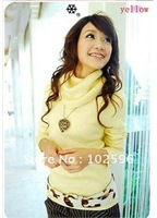 Free Shipping,2013 Fashin Winter Big Ture-down Collar Knitted Sweater,12 colors