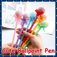 [FORREST SHOP] Office Supplies Kawaii Stationery Kids Gift Novelty Lollipop Ball Pens For School / Cute Ballpoint Pen FRS-10