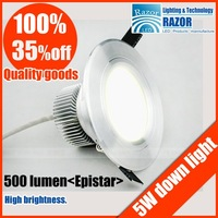 SELL Free shipping ,40%Off Popular high quality 5W,7W Epistar led ceiling lamp,high power led downlight ,750LM,2013New's rush.