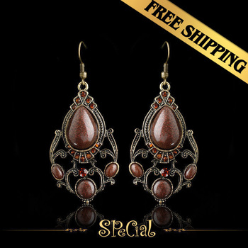 Special Drop Earrings Acrylic Synthetic Colorful Diamond Classic Vintage Design Free Shipping Jewelry EHB05A07