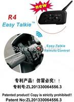 2pcs newest !  Motorcycle helmet  intercom with remote contorl/Truely 1000m range /helmet bluetooth headset /bluetooth headphone