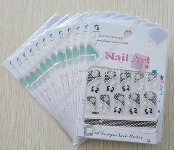 Free Shipping 3D Design Nail Art Sticker,3D Design Nail Art Seal ,nail sticker for nail