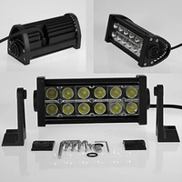 36W watt 2500lm LED Light Bar Offroad LED Work Light Drive Wide Flood Beam Fog Light For 4WD Truck SUV ATV Boat free shipping
