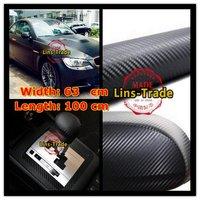 Free shipping New 100CM*63CM Car 3D Ultrathin carbon fiber sticker carbon fiber paper car stickers accessories #1004