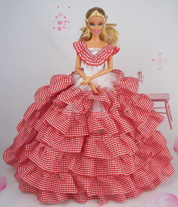 Бальное платье для барби своими руками из ткани