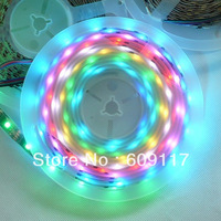hot WS2801 FULL COLOR waterproof led strip lighting 10meters/lot