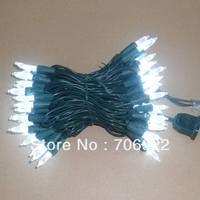 Free Shipping 10 PCS UL 70L 7M  White Christmas Lights M5 LED Lights String
