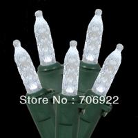 Free Shipping 20 PCS UL 120V 70L 7M White Christmas Holiday M5 LED String Lights