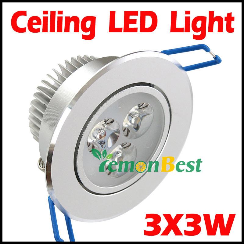 10pcs/lot 9W Ceiling downlight Epistar LED ceiling lamp Recessed Spot light 85V-245V for home illumination Freeshipping(China (Mainland