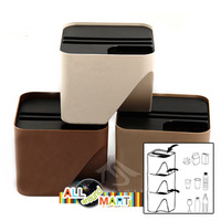 Small Size Stylish Home Kitchen Office Small Recycle Bin Can Garbage Dustbin Classification Storage Organizer. Free shipping