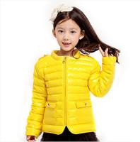 New Freeshipping winter blue yellow green red orange pink Children girls baby Kids down jacket feather jacket outwear PEDS11P20