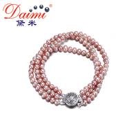 DAIMI 4-4.5mm Tricyclic White Freshwater Pearl Vintage Bracelet  Natural Pearl Princess Bracelet  New Tiny Bracelet