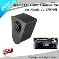 Free shipping HD CCD car front view frontview camera for Honda CRV/Fit night vision waterproof logo/ emblem camera