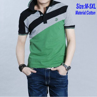 2013 Summer Men's Big Size shirt XXXXL 5XL Tee casual polo shirts Cotton Male mens short sleeve shirts for man PL001