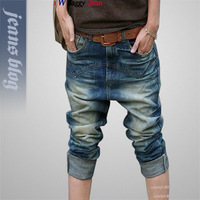 new 2013 Arrival Free Shipping big size Fashion Denim Skinny Pencil Pants   Blue jeans woman jeans are female  Harem Pants 9503