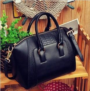 New Wowen's  vintage handbag serpentine pattern one shoulder handbag messenger bag elegance free shipping