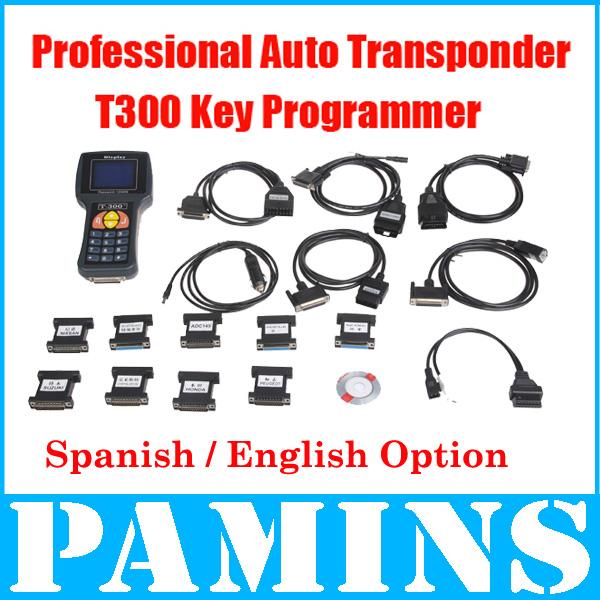 T300 Key Programmer 2014 Spanish Transponder Key Programming Machine Smart Car Scanner Auto Diagnostic Tools Code Reader Decoder(China (Mainland))