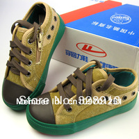 HuiLi/Warrior children's shoes canvas  shoes  the sneakers  kids shoes  boys &girls  lace up zipper on side sports shoes