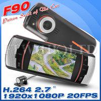 "Allwinner F20 F90/F90G Car Dual Lens DVR  2.7"" LCD Screen Full HD 1920x1080p 20FPS+H.264+G-sensor+Optional GPS OT5"