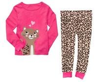 Girl's Sleepwear Set Animal Design Nightwear Long Sleeves Pyjamas, 6 Sizes(2T-7T)/lot - JBPA05/JBPA08/JBPA14/JBPA16