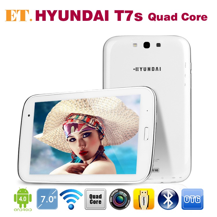"HYUNDAI T7s tablets Quad Core internal GPS 7"" IPS Screen 1280x800 pixels 2GB RAM 16GB Exynos4412 Bluetooth HDMI"