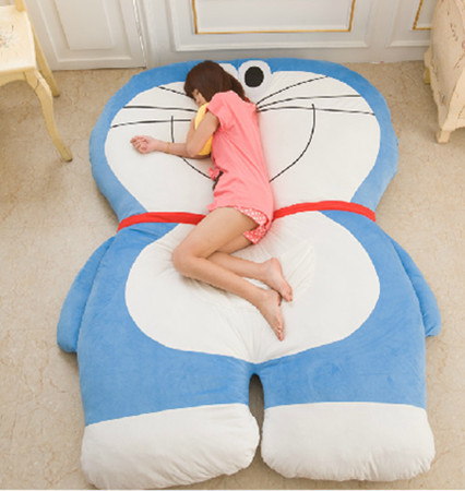 Hot selling!!2.0*1.6m Doraemon Double Bed/Sleeping Bag Sofa mattress doraemon toys,FREE SHIPPING(China (Mainland))
