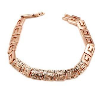 Top Quality ZYH018  18K Rose Gold Plated Bracelet Jewelry  Austrian Crystal CZ Wholesale