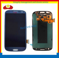 Original For Samsung Galaxy S3 i9300 Lcd Display Touch Screen Digitizer Assembly Blue Or White Color Free Shipping By HK Post.