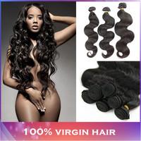 Brazilian Virgin Hair Body Wave 4 pcs lot 100% Human Hair Weaves Rosa Hair Products Brazilian Body Wave  Free Shipping