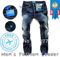 28-40#JYAD9137,2013 Free Shipping Famous Brand Autumn&Winter Warm Pants Jeans Men,Fashion   Button Fly Perfume Denim Jeans Men