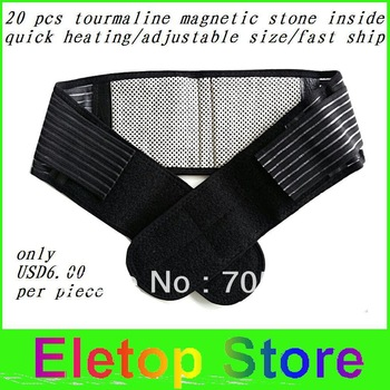 Free shipping 2pcs  Waist Brace Support Spontaneous Heating massage Protection waist  Magnetic Therapy Belt,waist heating belt