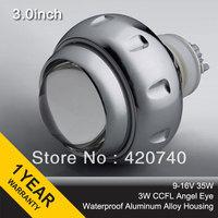 "3GQB CCFL Angel Eyes 3.0"" 35w inch HID Bixenon Projector Lenses For Headligh H1 H7 H4 H13 9007 9004 9005 9006 4300k 6000k 8000k"