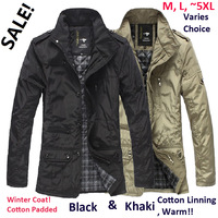 free shipping hot big sale Men's jacket cloth thick coat winter spring overcoat outwear & coats autumn winter trench