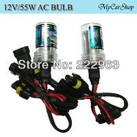 Wholesale 30Pairs/Lot 55W HID Bulb H1 H3 H4 H7 H8 H9 H10 H11 H13 9004 9005 9006 D2SC Single Bulb 4300K 6000K 8000K 1000K