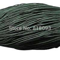 Chinese Cotton Wax Cord,  DarkGreen,  0.7mm,  about 400m/bundle