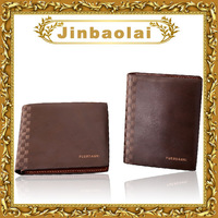 Korean branded leather bifold wallet fashion plaid famous wallet with flip up ID window billbold purses in short style F5103