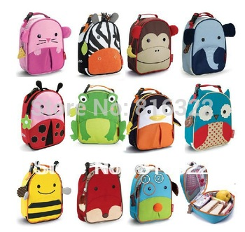 Free Shipping Children Zoo Lunch Bags Multi-function Meal Package Portable Insulated Food Lunch Bags For Kids