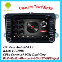 "Pure Android HD 800*480 7"" In Dash Car Radio Stereo DVD Player GPS Navi For VW GOLF 5 CPU:1G WIFI 3G POLO PASSAT JETTA TIGUAN"