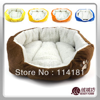 Free Shipping hot selling products! Dog bed with kennel mat for cat puppy soft fleece colorful pet house S L