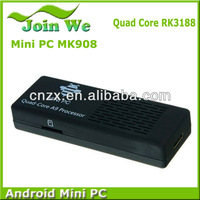 New Arrive MK908 RK3188 quad core android 4.2.2 mini pc 2GB/8GB built-in bluetooth DHL Free Shipping
