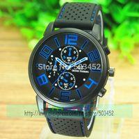 105pcs/lot Free Shipping To Uk Wholesale Price Racing Watch Men Sport Quartz Black Clock Cool Design Silicone Rubber Wrisewatch