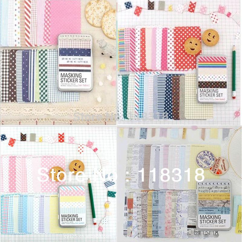 $5 off per $25,(1 Lot=27 Pcs) DIY Scrapbooking Cute Diary Paper Tin Box Wedding Photo Frame Stickers Notebook Crafts Sticker(China (Mainland))