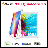 "Sanei N10 3G Quad core Tablet PC GPS 10.1"" IPS Capacitive Screen Bluetooth 3G Phone call Sim card slot"