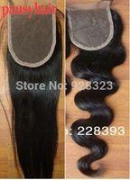 Free Part Human Hair Lace Frontal Closure Pieces Body wave Peruvian Virgin Hair Top Closure Bleached Knots Closure
