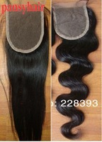 Free Part  Hair Lace Frontal Closure Pieces Body wave Peru Hair Top Closure Bleached Knots Closure