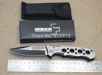 Top quality Boker Folding Survival Knife,Pocket knife 56HRC 440 Best Gift Hongkong post free shipping
