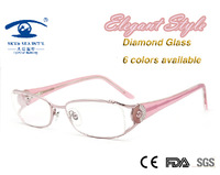 Eyewear Accessories Top Brand Designer Acetate Women Optical Frames Diamond Glasses Oculos De Grau Women