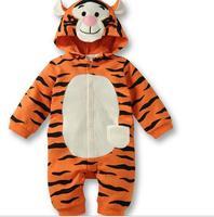 New 2014 baby romper lovely animal newborn baby tiger romper baby boy animal rompers costume baby free shipping TY45