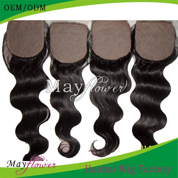 "2014 best 3.5""x4""/4""x4""Scalp closure silk base top closure pieces virgin Brazilian body wave unprocessed 6A grade hidden knots(China (Mainland))"